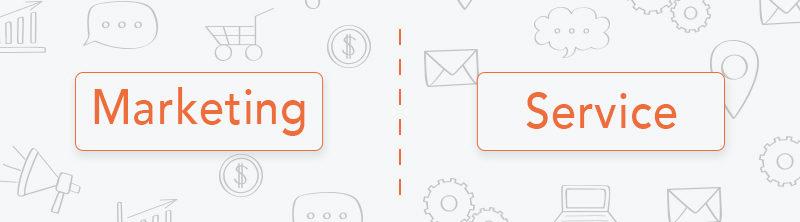 Hvad er forskellen på marketing og service SMS'er?